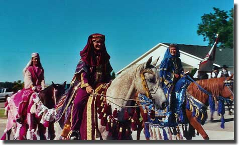 Parade in Arabian Costume