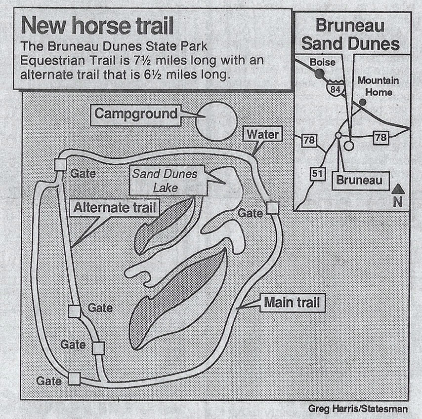 trail map of the dunes ride